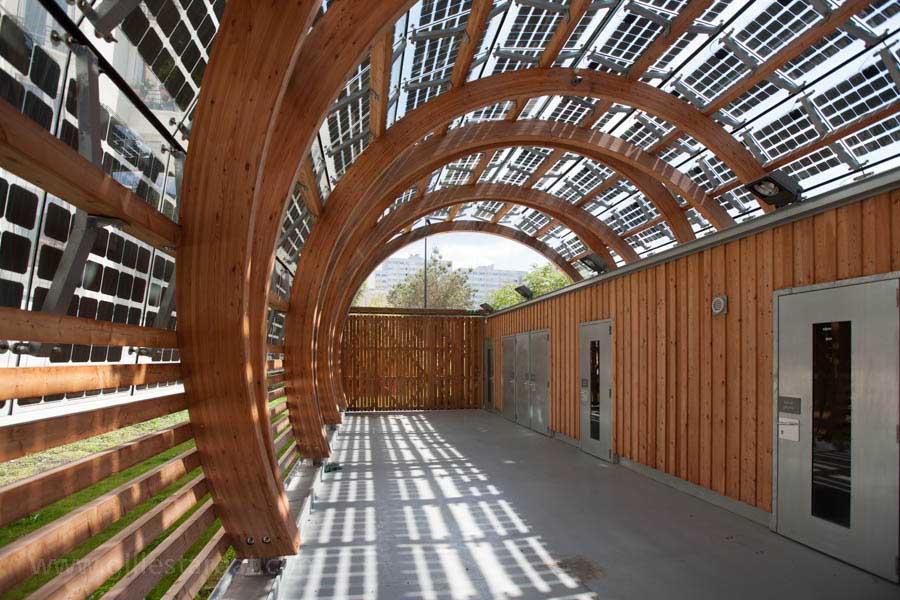 france, region ile de france, hauts de seine, ville de clichy la garenne, rue des cailloux, parc marcel bich, production d'energie solaire,