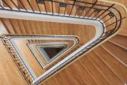 france, region ile de france, paris 9e arrondissement, 77 avenue de clichy, lycee jules ferry, escalier