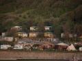 france, region basse normandie, cote fleurie, houlgate, plage, soleil couchant, camping