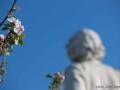 france, region basse normandie, calvados, cote fleurie, trouville sur mer, statue gustave flaubert, place foch,