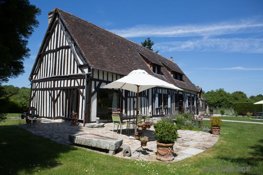 farnce, region normandie, orne, pays d 'alencon, les ventes de bourse, longère normande, M et Mme Leduc