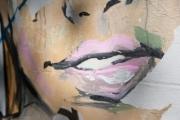 allemagne (germany), berlin, penzauer berg, rue, peinture marale, street art, femme,