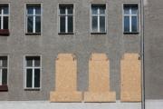 allemagne (germany), berlin, prenzauerberg, immeubles en travaux,