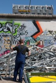 allemagne (germany), berlin, friedrichshain, immauble, ancien berlin est, east side gallery, artistes ayant réalise des oeuvres sur le mur,