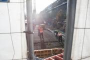 germany, allemagne, berlin, mitte, friedrichstrasse, travaux du futur metro, grues, ,